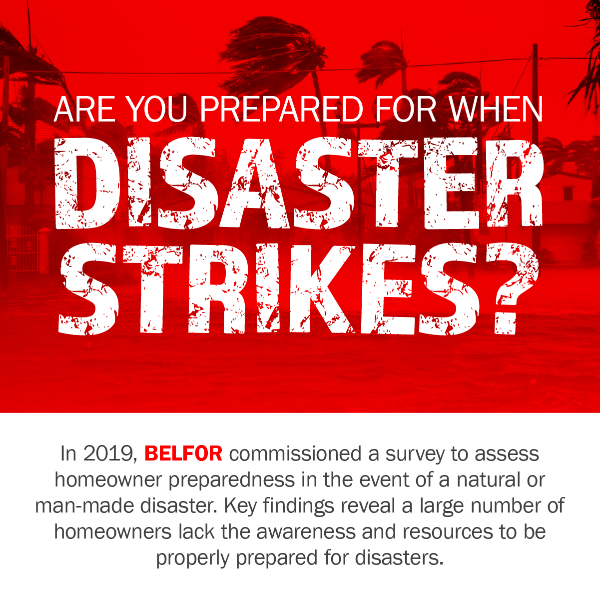 BELFOR Preparedness Month - Survey Infographic
