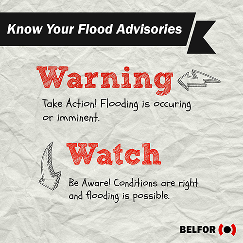 Flood Watch vs Flood Warning