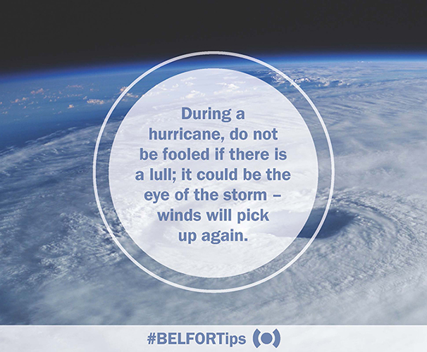 Hurricane Safety Tip Eye of the Storm