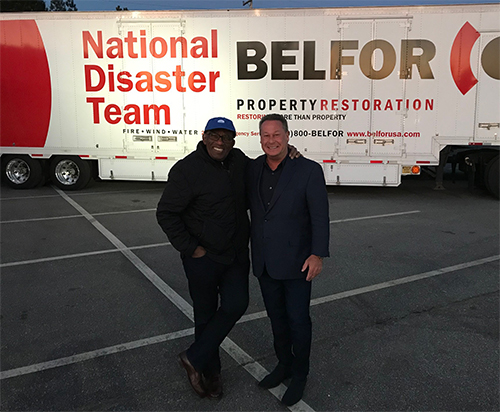 "Sheldon Yellen and Al-Roker with the TODAY Show ""Lend A Hand"" in Beauregard, Alabama after devastating tornado strikes."