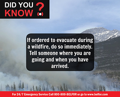 Wildfire evacuation tip